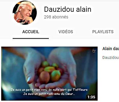 L'univers inspiré et musical d'AlainDauzidou